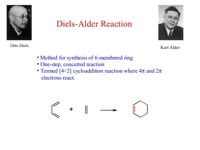Diels-Alder ReactionOtto Diels                                                       Kurt Alder             • Method for s...