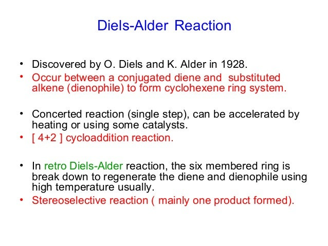 a synthesis experiment using diels alder reaction Industrial application of the diels-alder reaction di shen 16/04/2013 overview of the use of [4+2] cycloadditions for the manufacture of active pharmaceutical ingredients, agrochemicals, flavors, and fragrances on a scale above 1 kg.