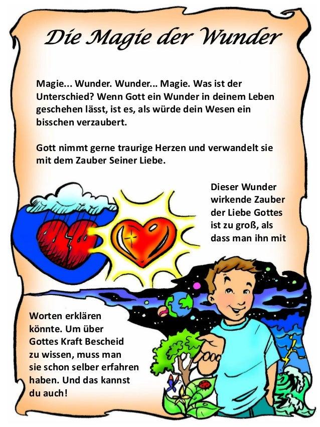 Die Magie der Wunder Magie... Wunder. Wunder... Magie. Was ist der Unterschied? Wenn Gott ein Wunder in deinem Leben gesch...