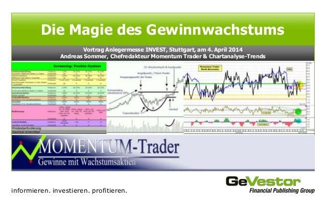 informieren. investieren. profitieren. Vortrag Anlegermesse INVEST, Stuttgart, am 4. April 2014 Andreas Sommer, Chefredakt...