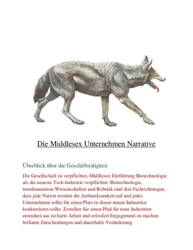 Die Middlesex Unternehmen Narrative Überblick über die Geschäftstätigkeit Die Gesellschaft ist verpflichtet, Middlesex Ein...