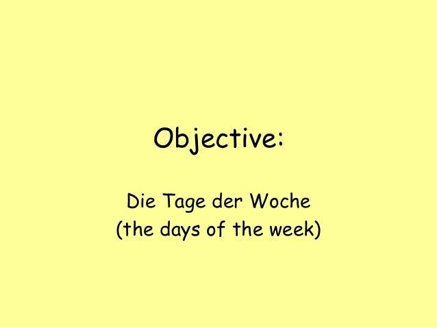Tage Der Woche