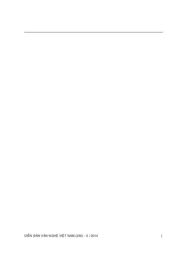 DIEÃN ÑAØN VAÊN NGHEÄ VIEÄT NAM (230) - 3 / 2014 1