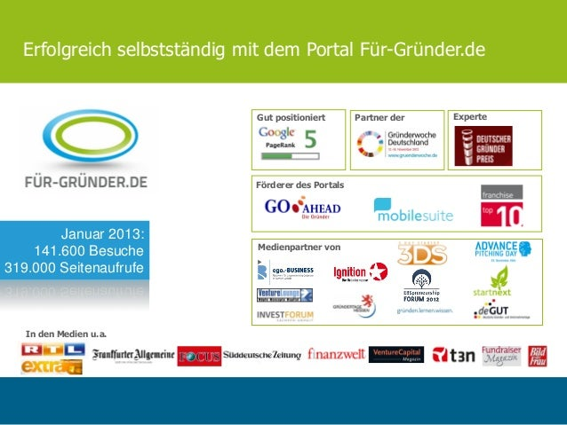Erfolgreich selbstständig mit dem Portal Für-Gründer.de                             Gut positioniert       Partner der   E...