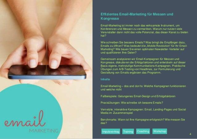 Effizientes Email-Marketing für Messen und Kongresse Email-Marketing ist immer noch das wirksamste Instrument, um Konferen...