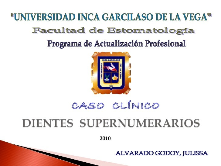 CASO  CLÍNICO ALVARADO GODOY, JULISSA 2010