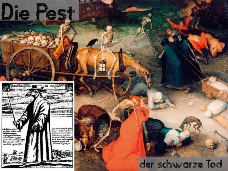 """Themen• Definition - """"Pest""""• Der schwarze Tod (Epoche; Begriff)  – Zahlen, Daten, Fakten und Vergleiche  – Die Verbreitung..."""