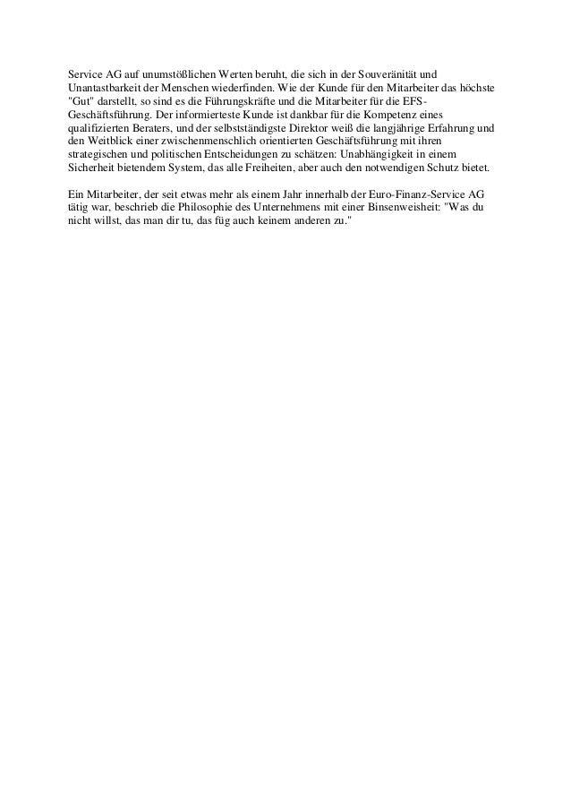 Die Philosophie der EFS AG Mainz Slide 3