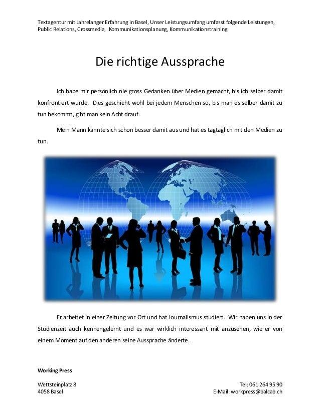 Textagentur mit Jahrelanger Erfahrung in Basel, Unser Leistungsumfang umfasst folgende Leistungen, Public Relations, Cross...