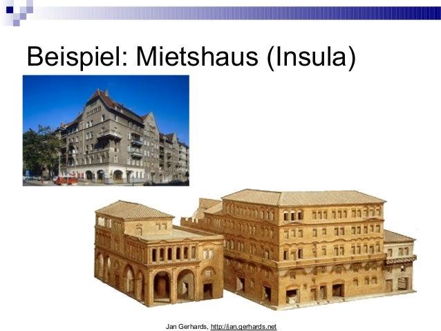 Beispiel: Mietshaus (Insula)Jan Gerhards, http://jan.gerhards.net