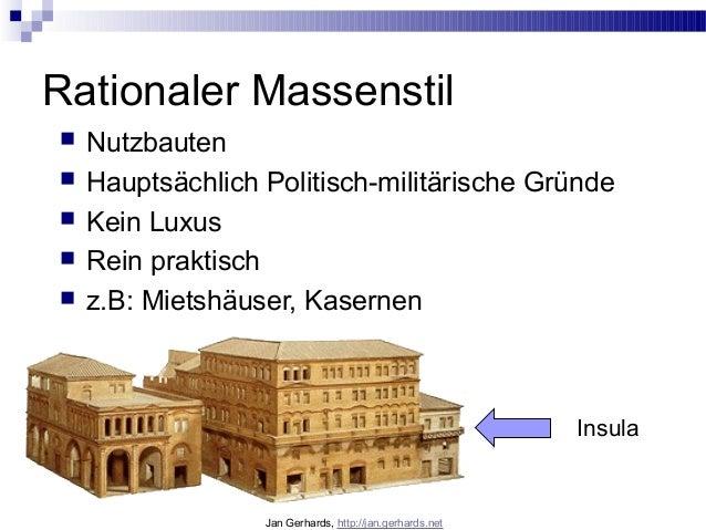 Rationaler Massenstil Nutzbauten Hauptsächlich Politisch-militärische Gründe Kein Luxus Rein praktisch z.B: Mietshäus...