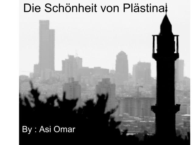 Die Schönheit von Plästina By : Asi Omar