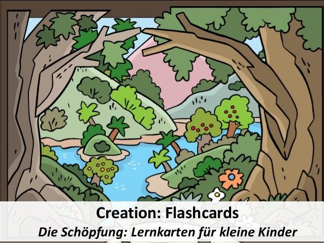Creation: Flashcards Die Schöpfung: Lernkarten für kleine Kinder