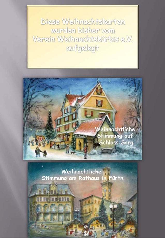 Weihnachtliche                  Stimmung auf                   Schloss Sorg      WeihnachtlicheStimmung am Rathaus in Fürth