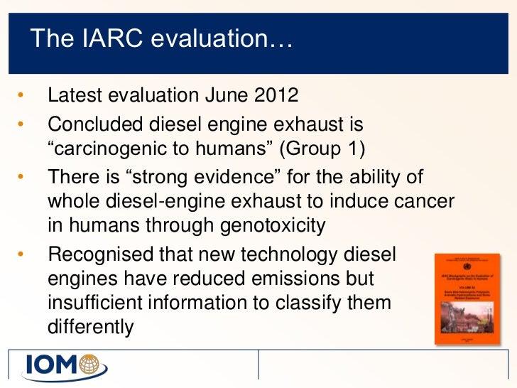 diesel engine exhaust  lung cancer