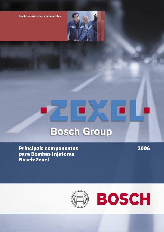 Bombas e principais componentes Principais componentes para Bombas Injetoras Bosch-Zexel 2006
