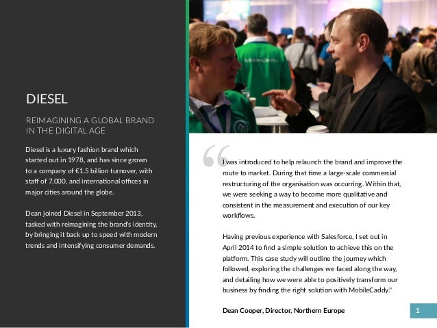 Diesel Customer Success with Salesforce Mobile & MobileCaddy Slide 3