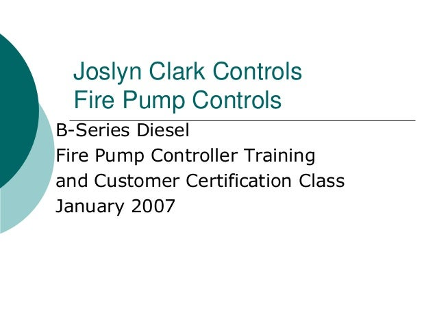 diesel fire pump controllers rh slideshare net