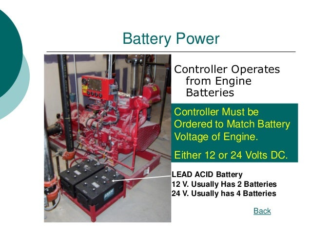 Diesel Fire Pump Controllers on Lead Acid Battery Monitor