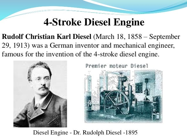 A biographty of rudolph diesel the creator of the diesel engine