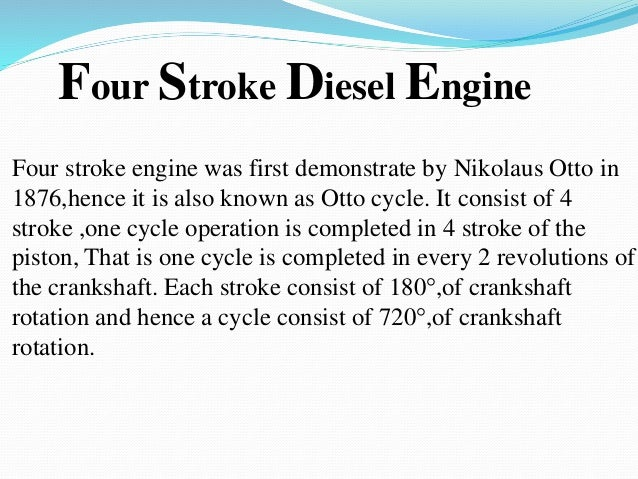 Diesel engine Powerpoint