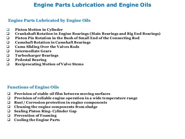 Diesel Engine Lubrication and Lube Oil Contamination Control – Diesel Engines Parts Diagrams And Names