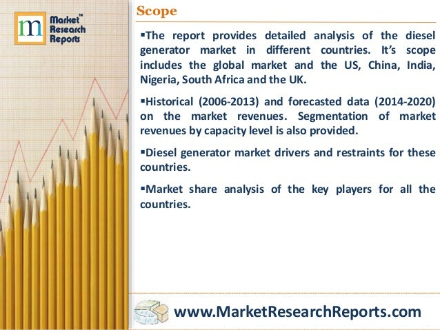 2014 diesel generator industry analysis and Generator market size, industry analysis report, regional outlook (us, canada, mexico, russia, uk, germany, france, italy, china, india, japan, indonesia, south.