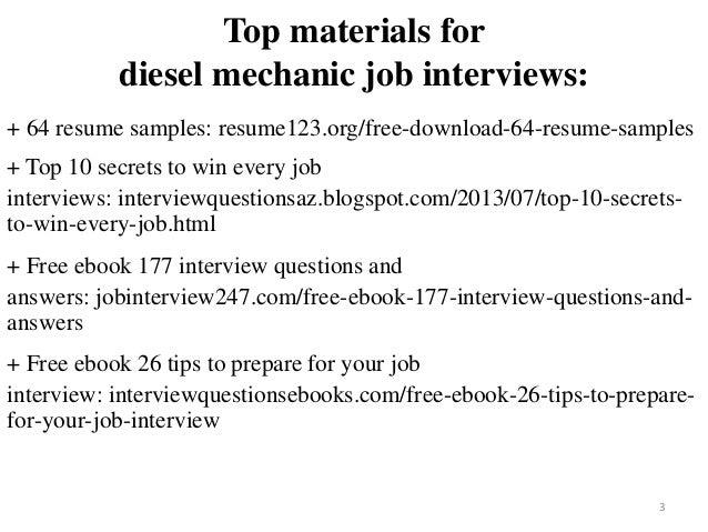 diesel mechanic resume sample pdf ebook