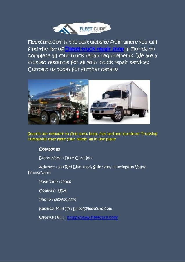 Truck Repair Near Me >> Truck Repair Service Near Me At Fleetcure Com
