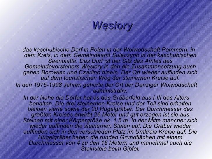 Die steinernen Kreise in Węsiory Gruppe5 Slide 2