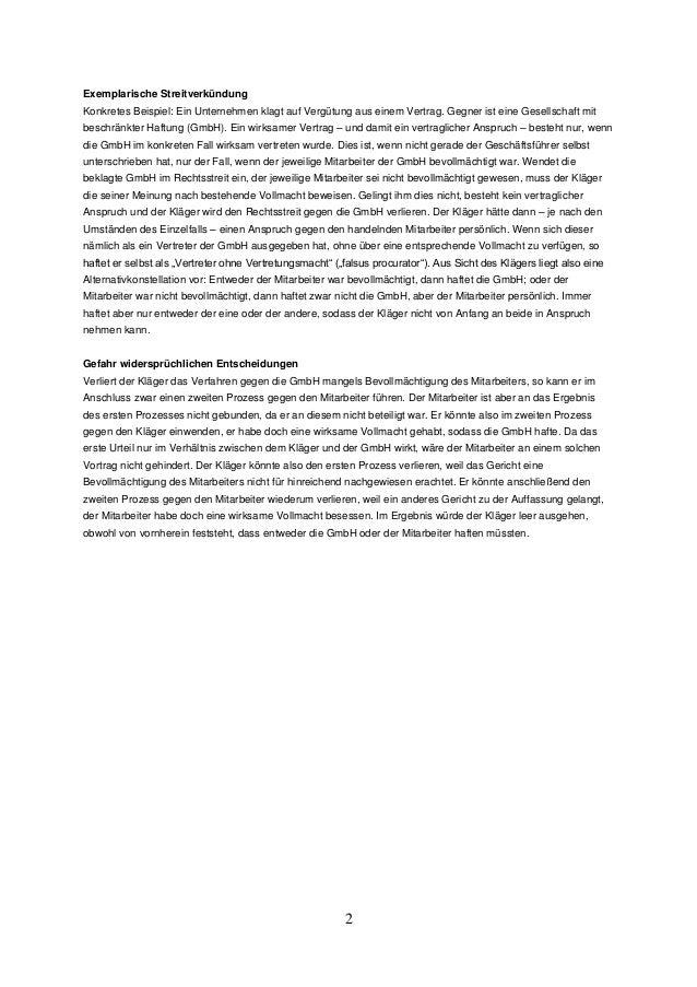 Die Streitverkündung im Zivilprozess Slide 2