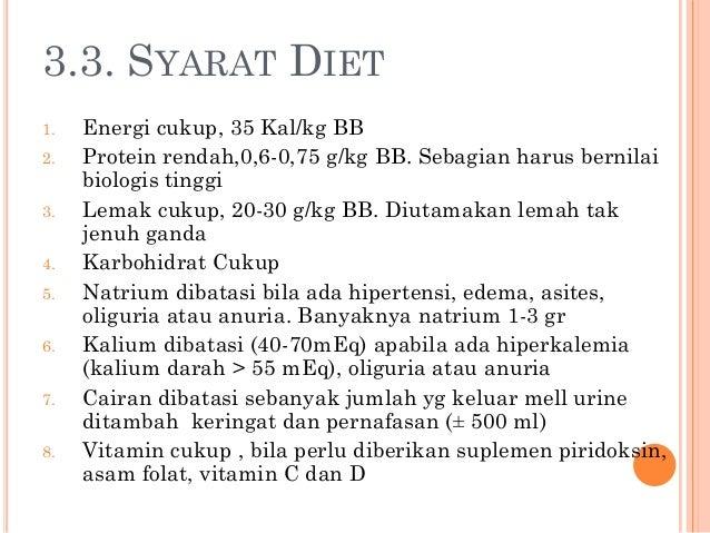 Diet Dan Pantangan Makanan Penderita Gagal Ginjal Kronis