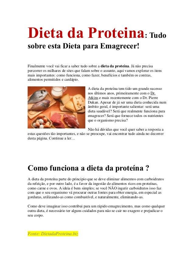 Dieta da Proteina: Tudo sobre esta Dieta para Emagrecer! Finalmente você vai ficar a saber tudo sobre a dieta da proteína....