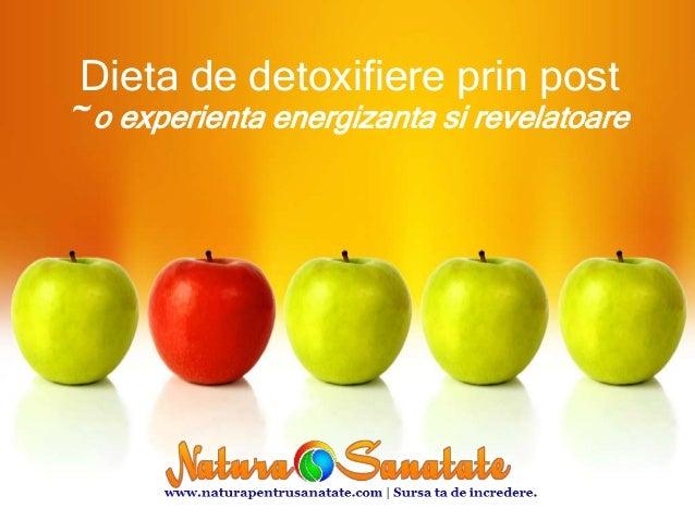 Dieta de detoxifiere prin post ~ o experienta energizanta si revelatoare
