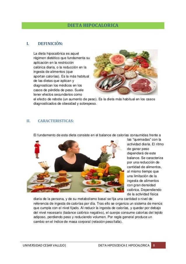 Dieta hiposodica e hipocalorica slideshare for Dieta definicion