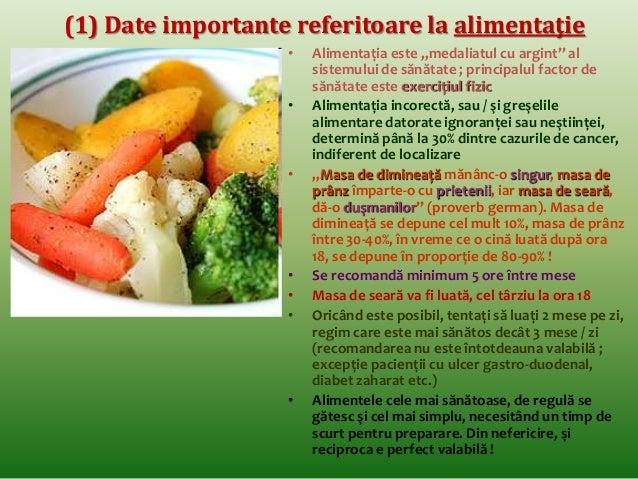 (5) Date importante referitoare la alimentaţie  • Atenţie la numărul de calorii pe care le  furnizează alimentele ce compu...