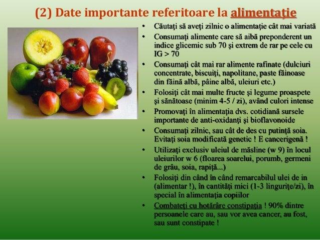 (6) Date importante referitoare la alimentaţie  • Evitaţi alimentele care vă provoacă balonări (testaţi-vă toleranţa indiv...