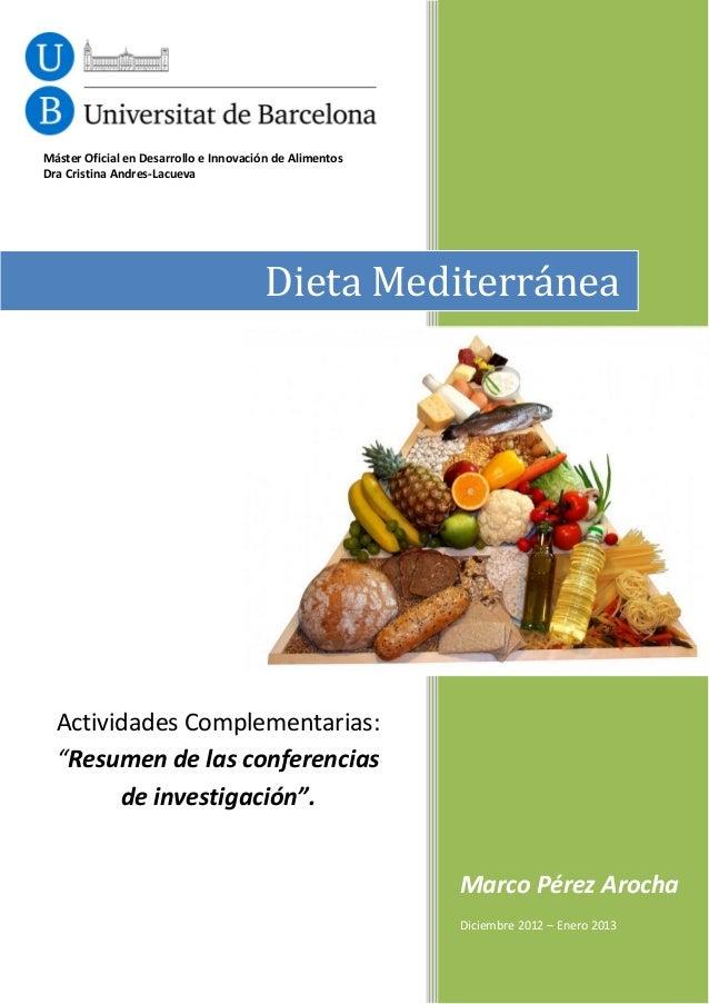 Máster Oficial en Desarrollo e Innovación de AlimentosDra Cristina Andres-Lacueva                                        D...