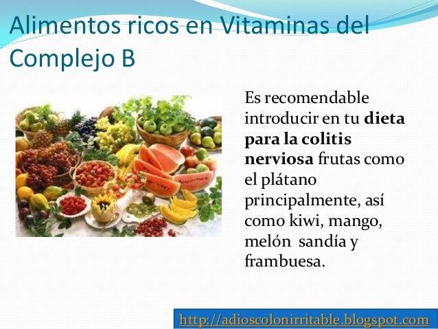 Dieta para colitis nerviosa tratamiento intestino irritable - Alimentos vitaminas b ...