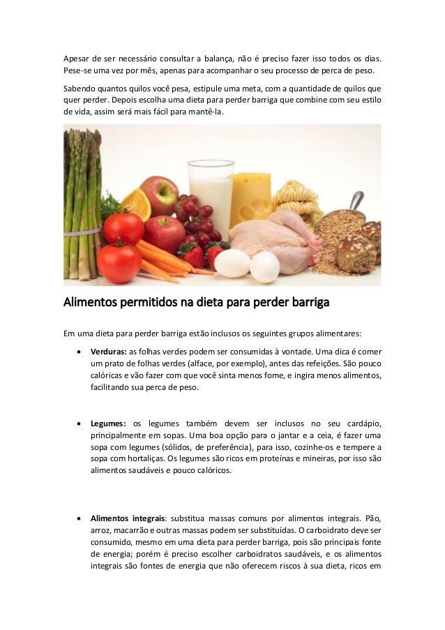 Dieta para perder a barriga - Alimentos para perder barriga ...
