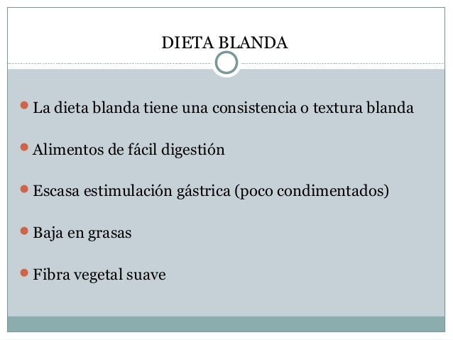 Dieta pre y post quir rgico - Alimentos de una dieta blanda ...