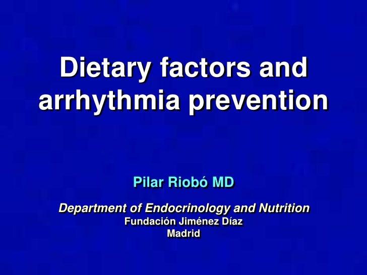 Diet  and arrhythmia