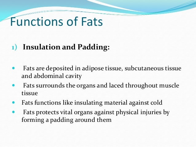 Dietary Fats My Ppt on functions of a body cavity