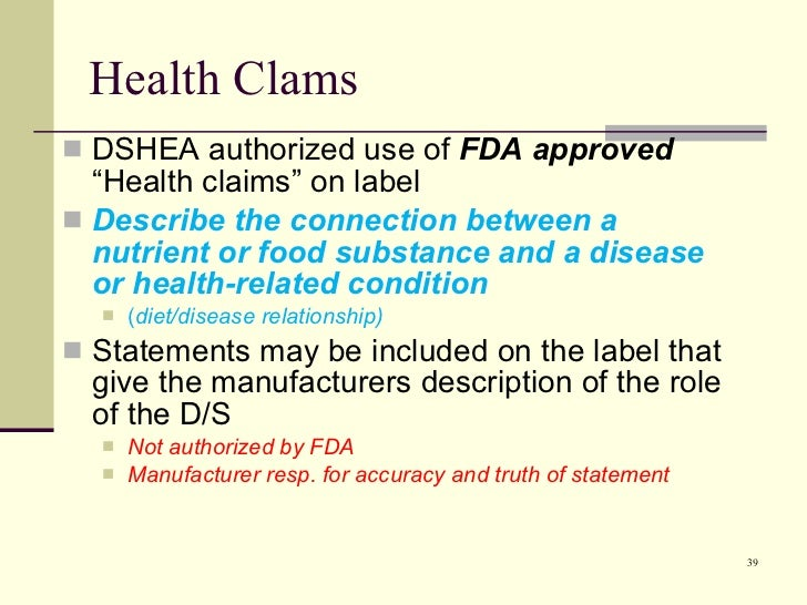 examination of the efficacy of dietary supplements The ftc typically requires claims about the efficacy or safety of dietary supplements to be supported with competent and should make sure that the endorser has appropriate qualifications to be represented as an expert and has conducted an examination or testing of the product that would be.