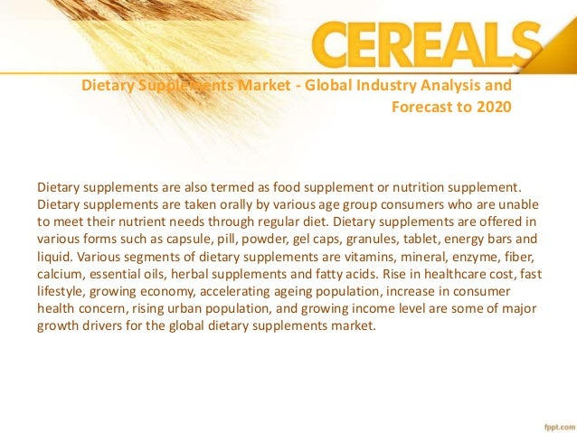 Dietary Supplements Market Research Reports & Industry Analysis