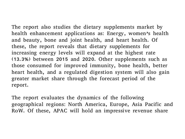 Dietary supplements market size and industry analysis & forecast …
