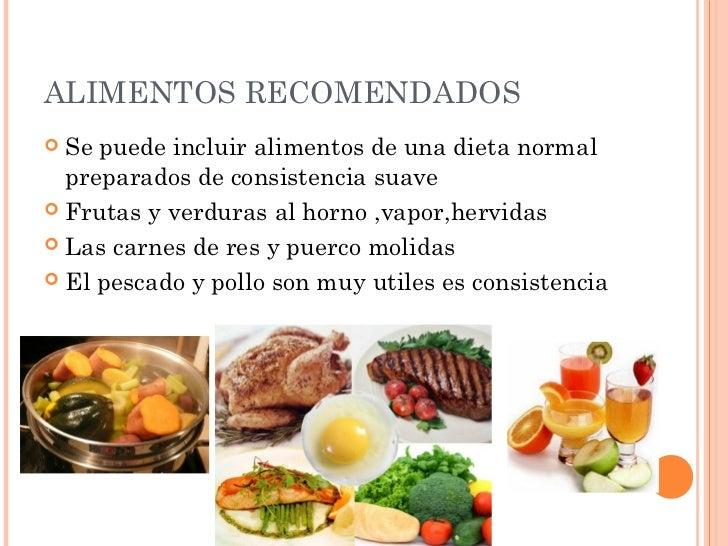 Dietas modificadas en consistencia - Alimentos de una dieta blanda ...