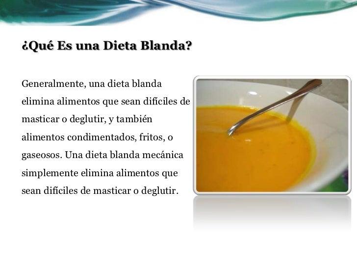Dietas blandas - Alimentos de una dieta blanda ...