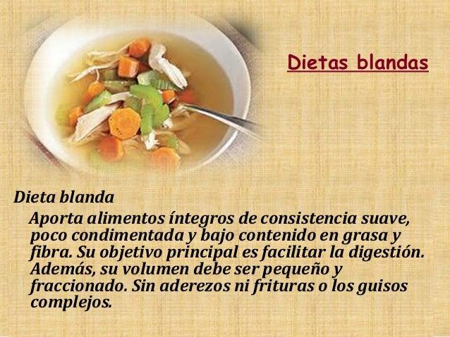 Dietas clasificaci n - Alimentos de una dieta blanda ...