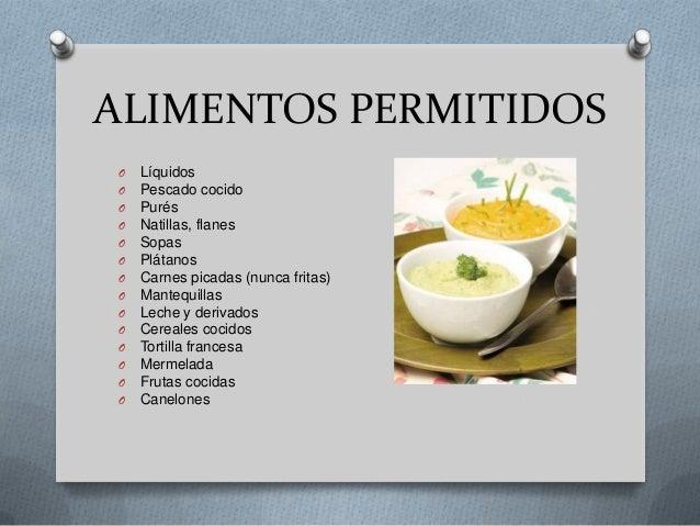 Dietas hospitalarias en base a patolog as dieta - Alimentos de una dieta blanda ...